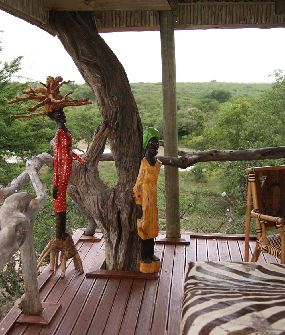 Private Bush Lodge within the Cheetah Reserve