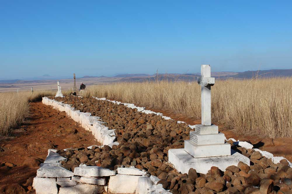 Spioenkop British Graves